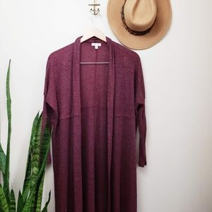 Maroon Red Silence + Noise Duster Cardigan XS long